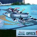 the layout of the motel