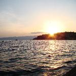 sunset from the Royal view villa in Ohrid