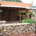 Hummingbird Casita, pool/spa building to right