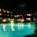 the pool at nite