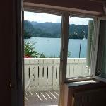 Beautiful view from your room across Lake Bled