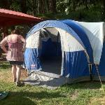 our tent site