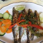 Grilled Sardines, Portuguese Style