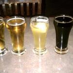 My beer sampler - Lazy Daze Lager, Lazy Daze Light, Water St Wheat, Sacreligous Stout, Organic W