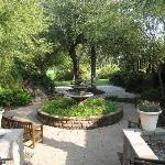 Outdoor fountain/meditation area