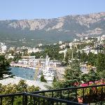 Great view of Yalta from 5th floor balcony