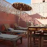 La terrasse pour les bains de soleil