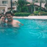 Us in the pool
