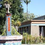Central fountain and meditation garden