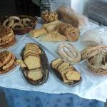 variety of bakery products at the breakfast