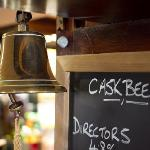 Cask Ales are served here