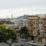 Blick von der Dachterrasse zur Golden Gate Bridge