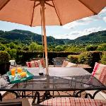 Patio with breathtaking views over the Gwydir Forest