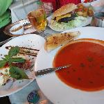 Tomato soup and Grilled Halloumi
