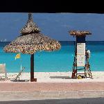 la plage depuis le bar