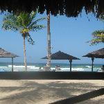 view of beach from beach bar