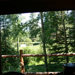 view of pond from guest house front window