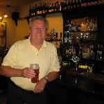 Father in law enjoying a pint