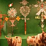 A display in the Andean gallery