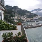 View from balcony to Amalfi