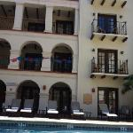 by the pool at the Mansion del Rio