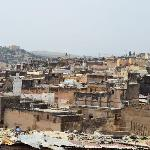 The Fez Medina.  Taken from the surrounding hills