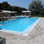 la piscina fantastica con trampolino