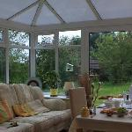 Beautiful Breakfast in this lovely conservatory