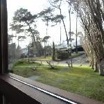 Vista da janela no cafe-da-manhã