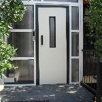 the lift door