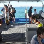 back deck of boat