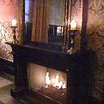 fireplace downstairs bar