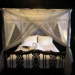 Splendid bed and towel origami