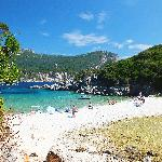 main beach at Paleokastritsa
