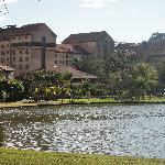 The lake at The Grande Hotel
