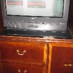 The oldest TV stand and TV
