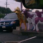 Purple Cow greeters