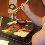 Enjoying bento lunch at Juban