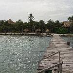 Xanadu's dock looking back at property