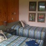 'Studio Hotel' room at Hicks Bay Motel Lodge, just after a TV Makeover programme has been throug