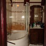 Princess Daisy Suite - lovely ensuite but note the size of the shower screen