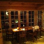 dining area at the farm house