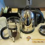 The Bodum coffee maker in our room