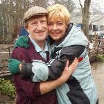 Tom with Corrie star Ann Kirkbride