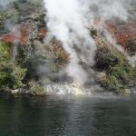 Active steam viewed from boat
