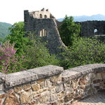 The ruins of Burg Baden above Badenweiler in the Black Forest