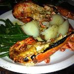 homard entier grillé