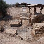 Baptism site at dry branch of Jordan River