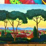 моя картина Утров в Тоскане