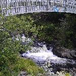 Multiple bridges wind over the river
